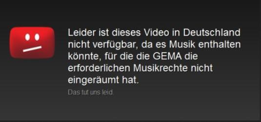YouTube Sperrvermerk