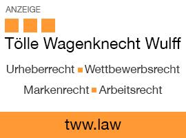 Anzeige: Tölle Wagenknecht Wulff Rechtsanwälte